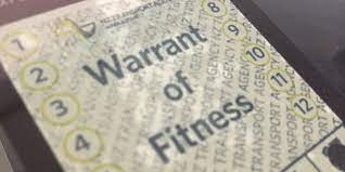 Warrant of Fitness - WOF