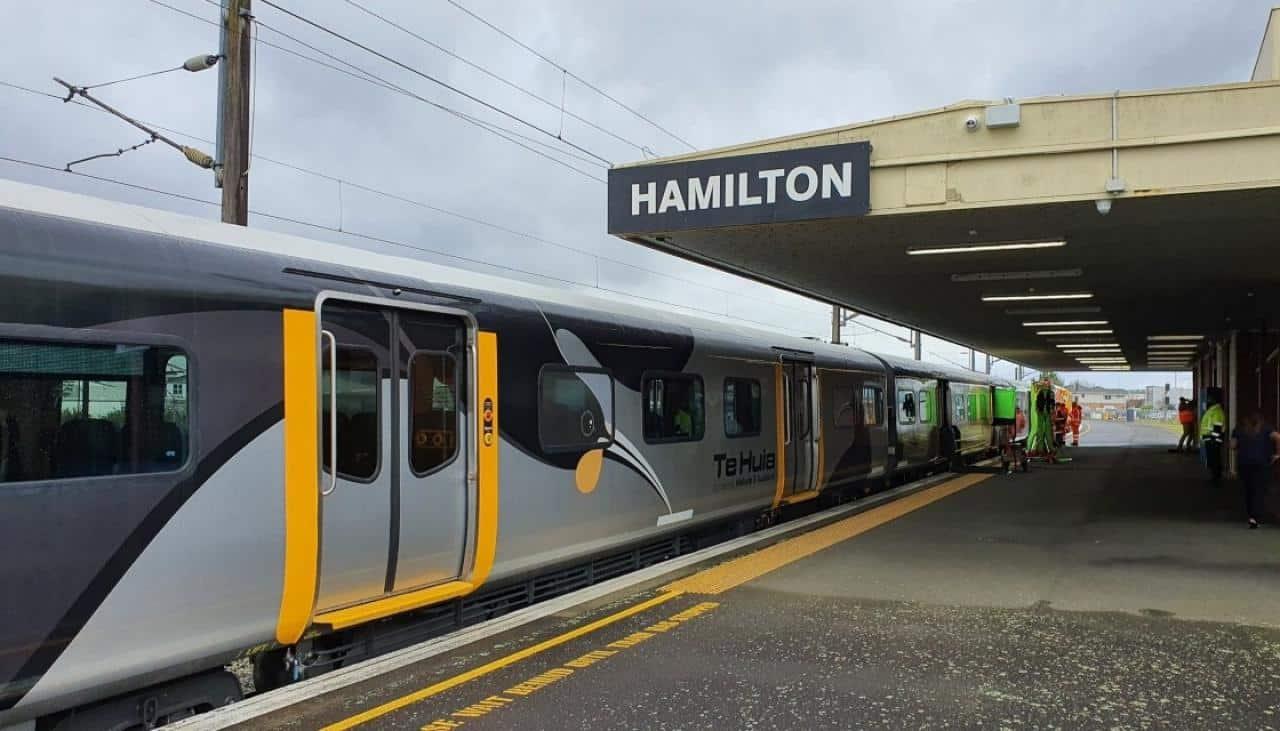 Hamilton to Auckland commuter train