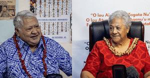 Caretaker Prime Minister Tuilaepa Dr. Sailele Malielegaoi and Leader of F.A.S.T. Fiame Naomi Mata'afa