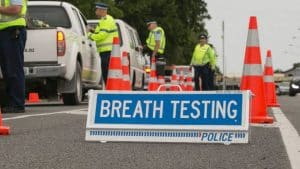 NZ police checkpoint